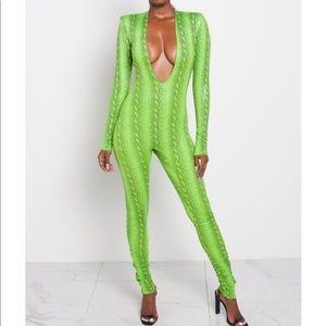 Kloset envy green venom jumpsuit